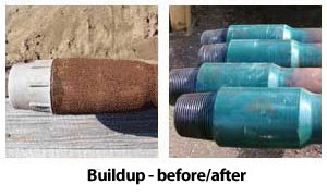 drill pipe buildup